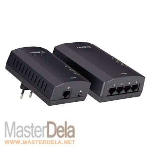 Адаптер Powerline 4-port Kit, Linksys PLSK400-EU